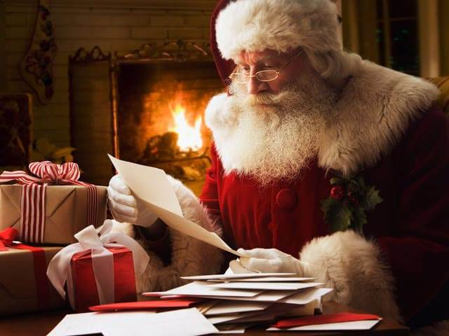 Letter to Santa Claus in the United Kingdom