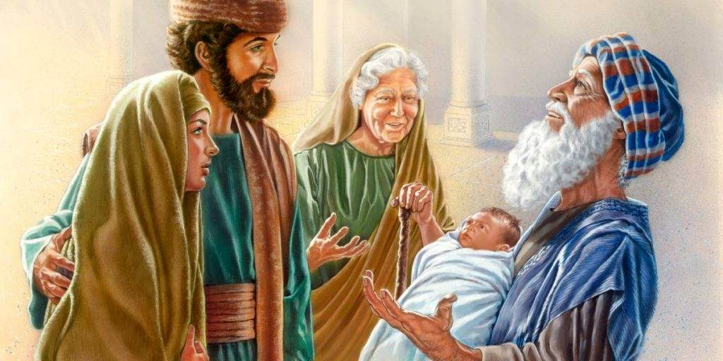 Mary and Joseph brought Jesus to the temple
