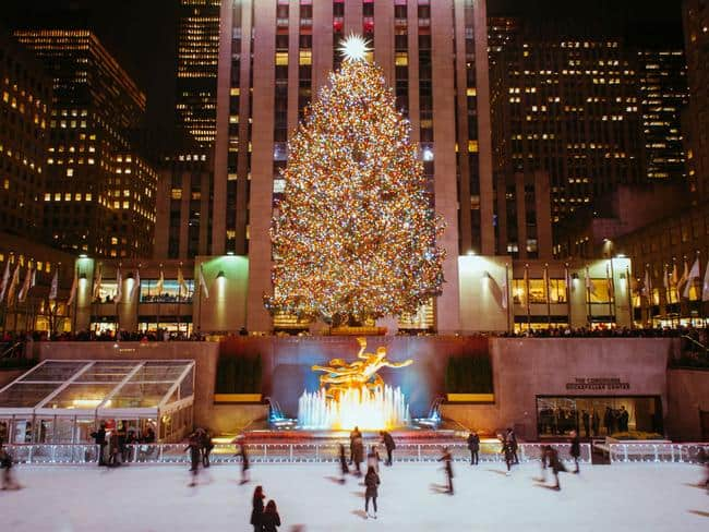 Rockefeller Center on Xmas