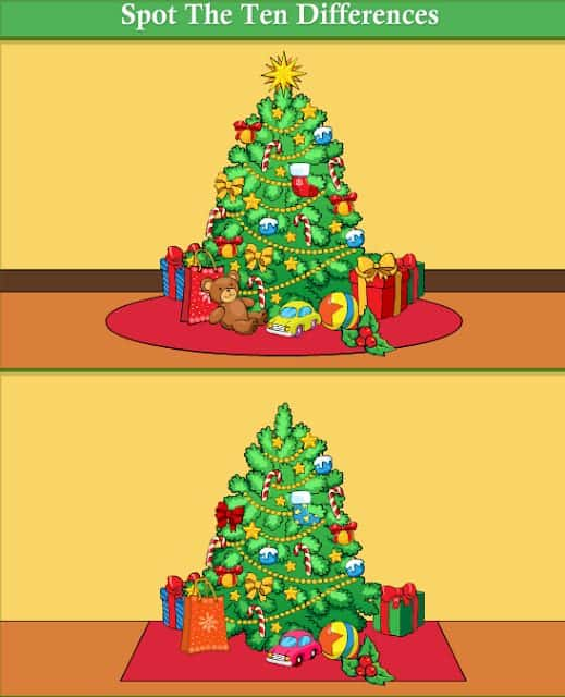 Spot the Difference Christmas Tree Edition