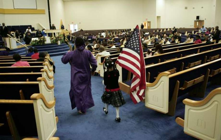 church service in United States